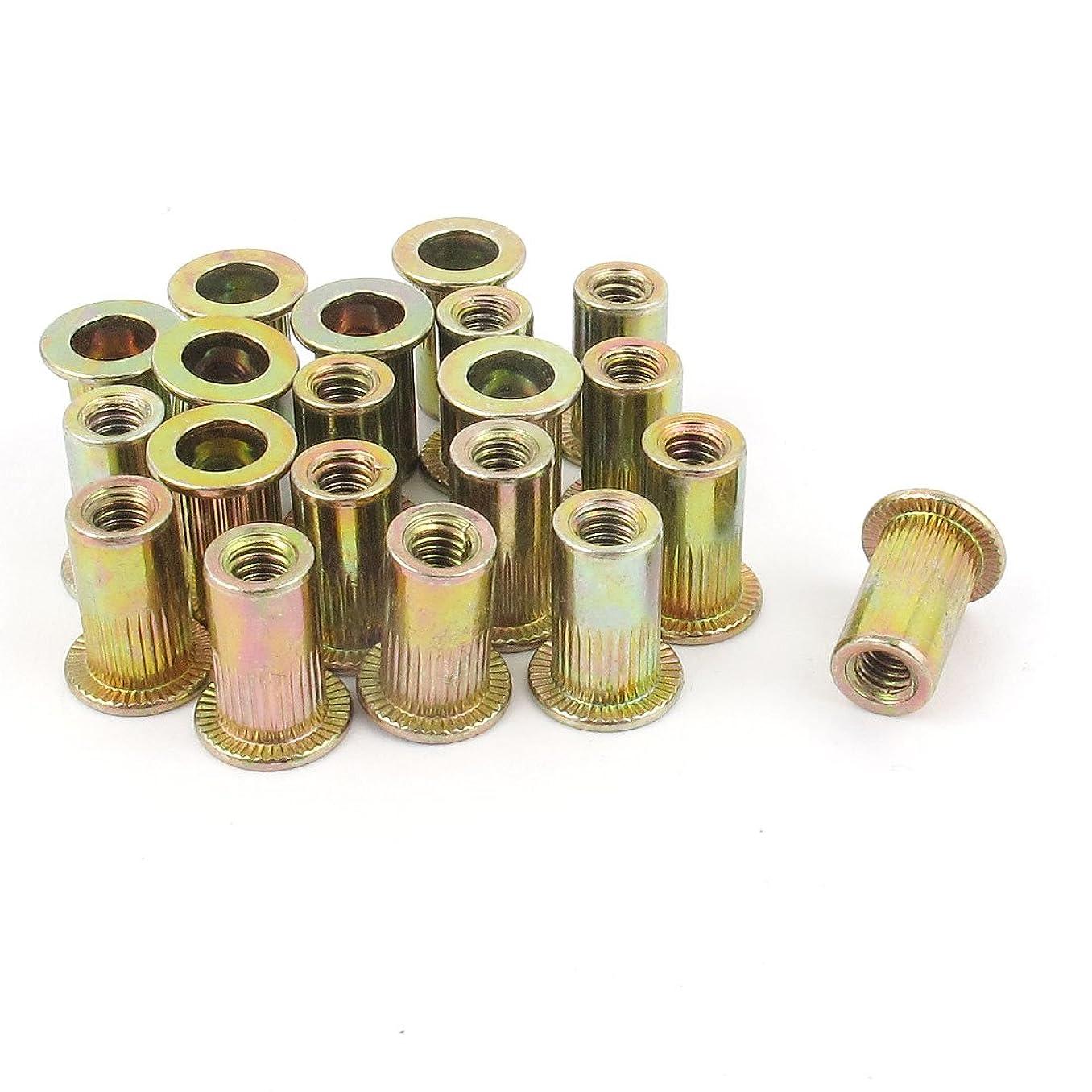 uxcell 20Pcs Steel Rivet Nut Flat Head Insert Nutsert #8-32 zq41905366691770