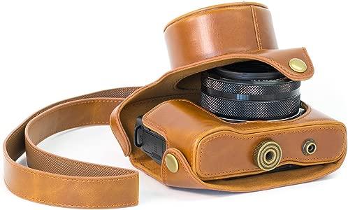 MegaGear Camera Case for Canon PowerShot G1X Mark II  light brown...