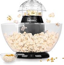 Duronic POP50 Appareil à Popcorn – Capacité de 50 gr avec bol démontable - Cuisson électrique à air chaud de mais soufflé ...
