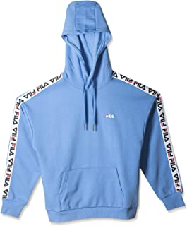 FILA Women's Clara Hoodie Sweatshirt, Blue (Marina), Medium