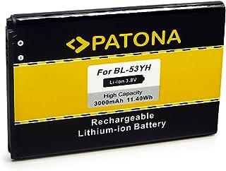 PATONA Batería de Repuesto Li-Ion para LG BL-53YH Compatible con LG D855 F400 G3