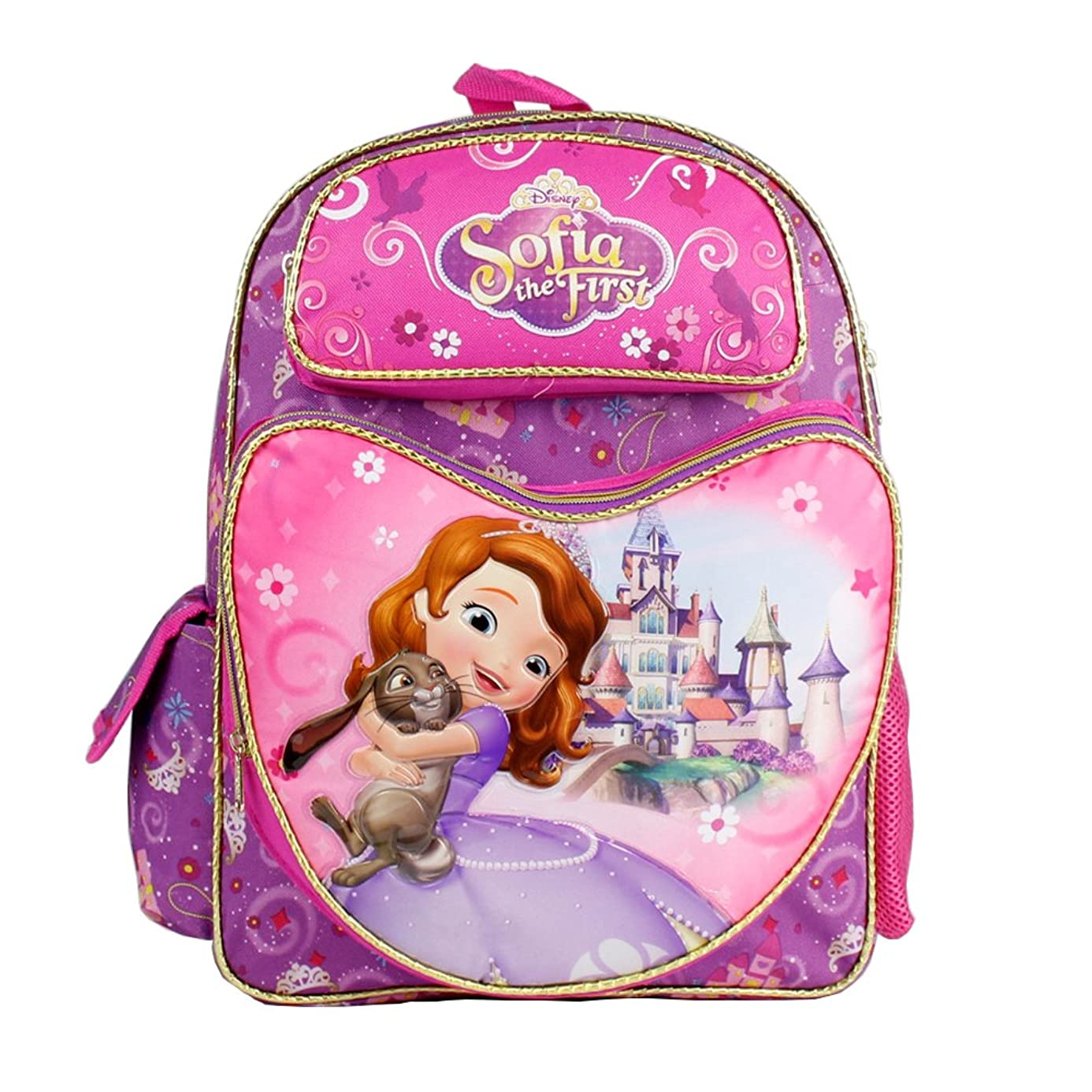 Disney Junior Sofia the First 16' Large Backpack - Princess Bunny Hug bid6968931