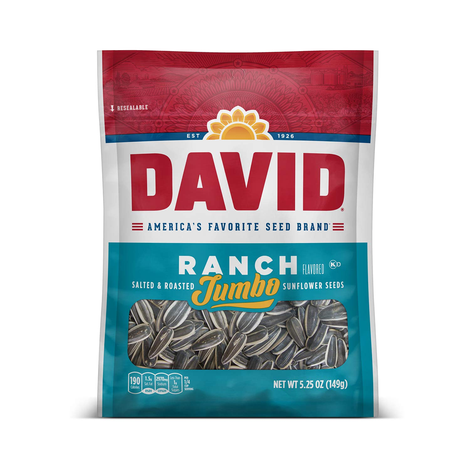 35% OFF DAVID SEEDS Roasted and Salted quality assurance Seeds Jumbo 5.25 Sunflower Ranch