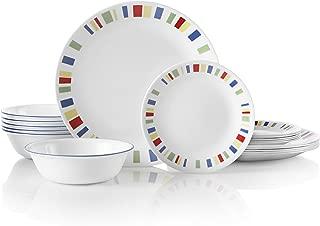 Corelle 18-Piece Service for 6, Chip Resistant, Memphis Dinnerware Set