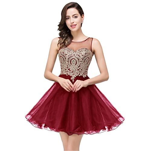 b4b38dc8100 MisShow 2019 Women s Cocktail Dresses Crystals Applique Short Prom Dresses