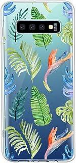 Suhctup Compatible con Samsung Galaxy S10 Funda Flor de TPU Transparente Diseño de Flores Patrón Cárcasa Ultra Fina Suave ...