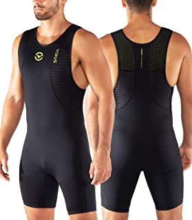 Virus AU27 Ascend Mens Weightlifting Singlet Black/Lime Punch Olympic Lifting