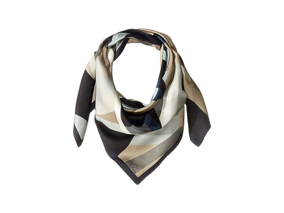 Echo Design Tropical Geo Silk Square Scarf (Black) Scarves