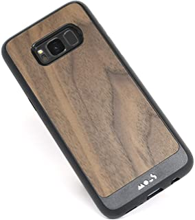 Mous - Protective Case for Samsung Galaxy S8 - Limitless 2.0 - Walnut - Screen Protector Included