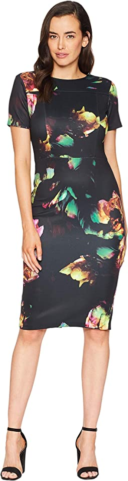 Scuba Midi Sheath Dress