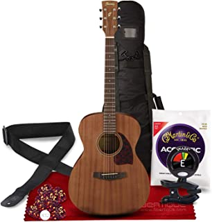 Ibanez PC12MH Mahogany Grand Concert Acoustic Guitar with Tuner + Gig Bag + Deluxe Instrument Accessory Bundle