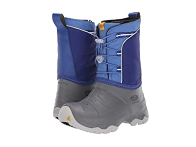 Keen Kids Lumi Boot WP (Little Kid/Big Kid) (Bright Blue/Steel Grey) Kids Shoes