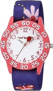 Red Balloon Girls Analog Quartz Watch with Nylon Strap, Purple, 16 (Model: WRB000143)