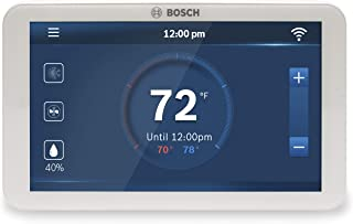 Bosch BCC100 Connected Control Smart Phone Wi-Fi Thermostat - Compatible with Alexa - Touch Screen