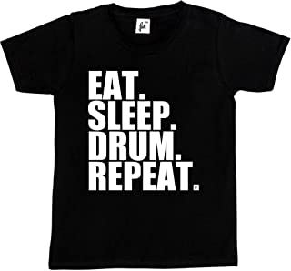 """Baby Drums T-Shirt /""""Born with Sticks in my Hands/"""" Drum Set Drummer Rock Band"""