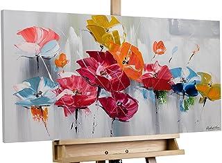 Tele Originali manufatte XXL Quadro da Parete Dipinto in Acrilico Arte Moderna in Un Pezzo Multicolore KunstLoft® Dipinto Acrilico Mucca di Carnevale 60x60cm