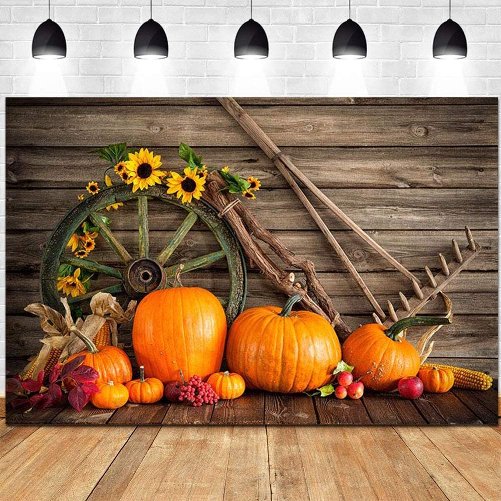 Photography Background Happy Halloween Backdrop Pumpkin Lamp Gloomy Forest Spider Net Gothic Skull Candle Vintage Grunge Table Bokeh Costume Canival Photo Portrait Vinyl Studio Prop