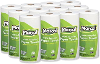 Marcal Paper Towels U-Size-It Sheets 2 Ply 140 Sheets Per Roll 100% Recycled - 12