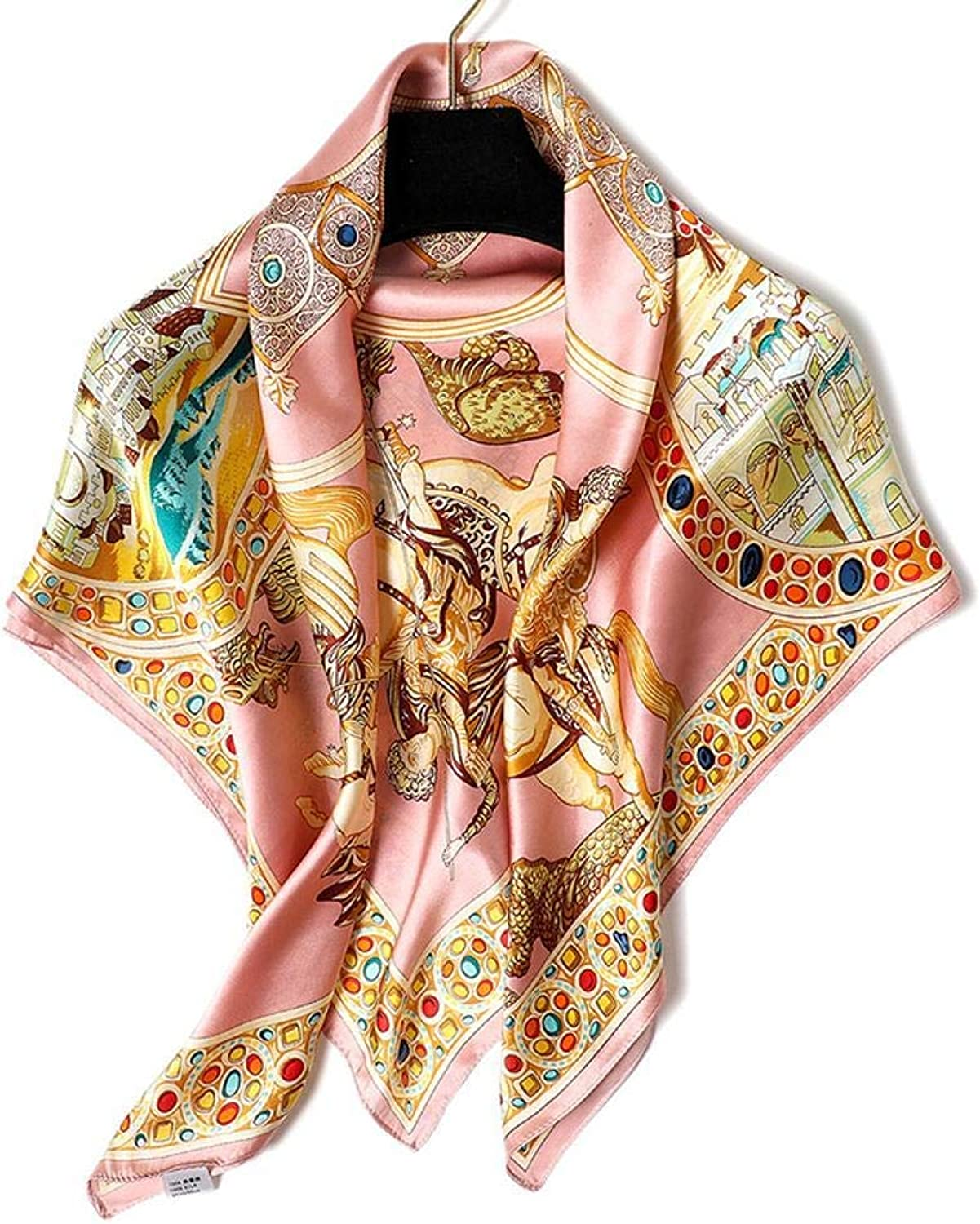 Paioup Ladies silk shawl silk scarf scarves Send family friends birthday gifts 88cm88cm Perfectly expresses unique temperament (color   Black, Size   M)
