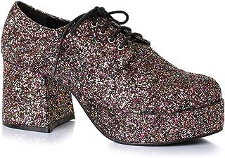 """Mens Disco Platform 3"""" Heel Glitter Shoes size Large 12-13"""