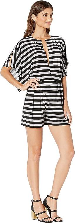Grey/Black 3/4 Stripe