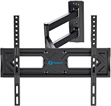 Full Motion TV Wall Mount, Heavy Duty Single Articulating Arms TV Bracket for Most 26-55 Inch Flat Curved TVs, Up to VESA ...
