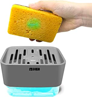 Dish Soap Dispenser, Kitchen Automatic Pressing Type Liquid Box, Multi-Functional Artifact Detergent Dish-Washing Soap Box...