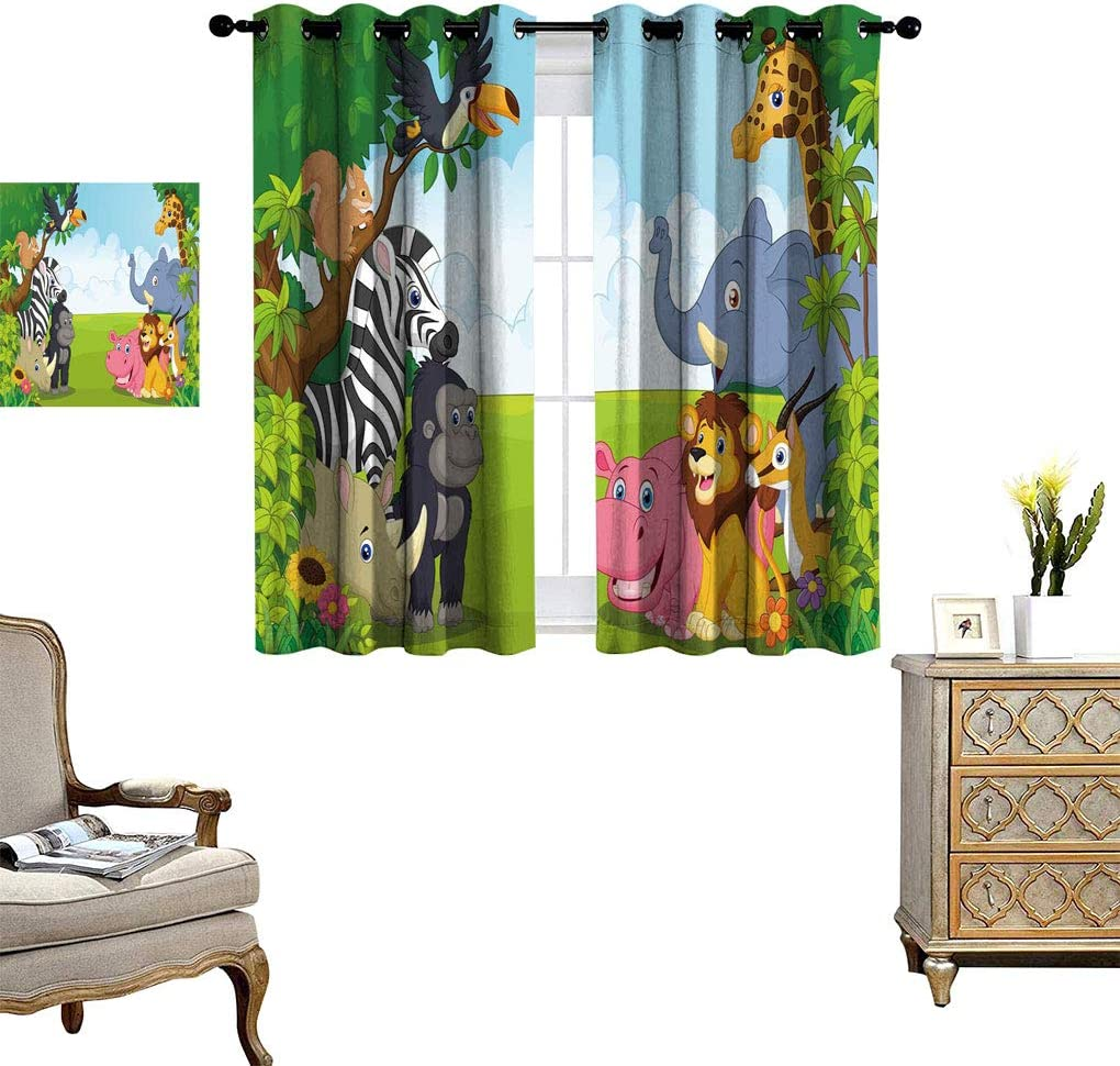 Special price Amazing Kids Decor Blackout Curtain Funny Collection latest Ani Cartoon