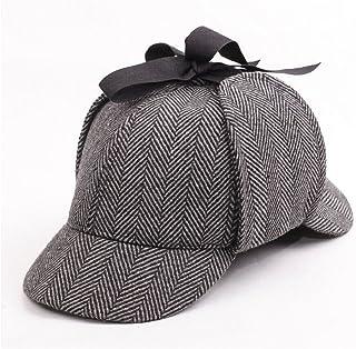 92862871d3d Aovei® Unisex Sherlock Holmes Detective Hat Deerstalker (A)