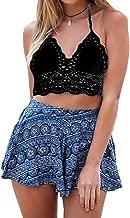 POSESHE Women's Summer Crochet Crop Bikini Top