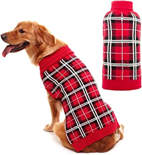 tartan dog sweater