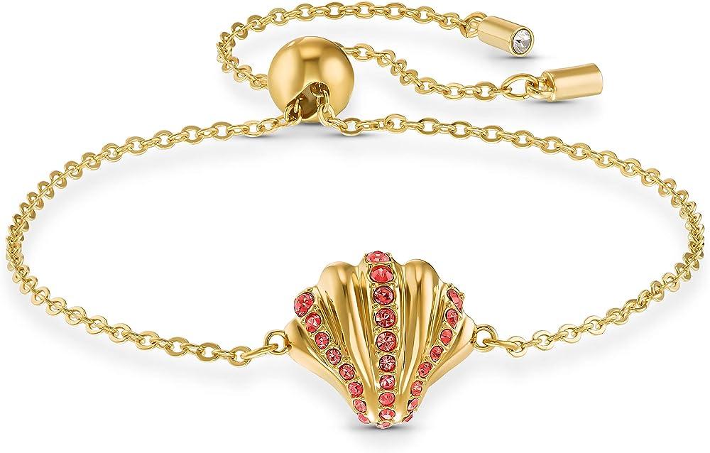 Swarovski braccialetto shell, rosso, placcato color oro 5524181