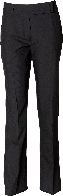 Henbury Womens flat front bootleg trousers