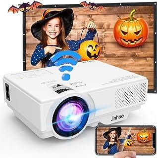 Proyector, Proyector Wifi, Mini Proyector 5500 Lúmen Soporta 1080P Full HD, Proyector Nativo 720P Compatible con TV Stick ...