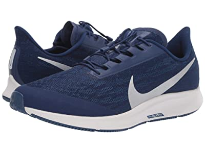 Nike FlyEase Air Zoom Pegasus 36 (Blue Void/Metallic Silver/Coastal Blue) Men