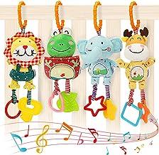 Tumama Juguetes Colgantes para bebés, Sonajeros Suaves Juguetes para bebés de 3 6 9 12 Meses Niños y niñas