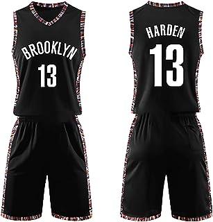 SWA Maglia da Basket # 13 Rockets Harden Uniforme da Basket Ricamata Canotta Sportiva Traspirante da Uomo S-3XL-black-S