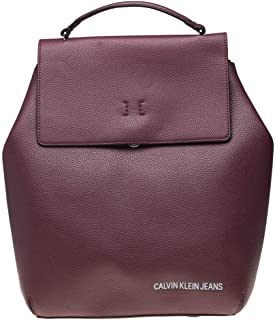 CALVIN KLEIN ULTRA LIGHT BACKPACK with FLAP  for WOMEN-MAROON