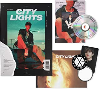 EXO BAEKHYUN 1st Mini Album - City Lights [ NIGHT ver. ] CD + Photobook + Lyrics Booklet + Folded Poster(On pack) + Photocard + FREE GIFT / K-POP Sealed