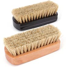 Fasmov Leather Scrub Brush Upholstery Brush, Car Interior Cleaner, 2 Pack (Black/Brown)