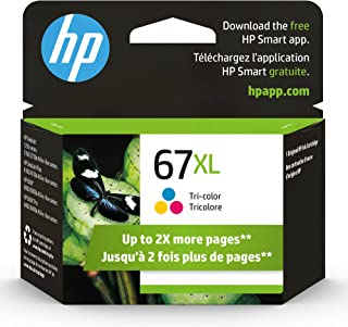 HP 67XL | Ink Cartridge | Tri-Color | Works with HP Envy 6000 Series, HP Envy Pro 6400 Series, HP DeskJet 1255, 2700 Serie...