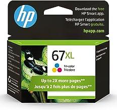 Original HP 67XL Tri-color High-yield Ink Cartridge | Works with HP DeskJet 1255, 2700, 4100 Series, HP ENVY 6000, 6400 Se...