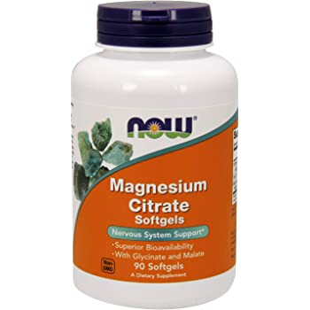 NOW Supplements, Magnesium Citrate, 90 Softgels