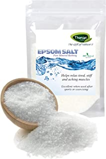 Thanjai Natural Epsom Salt 2000 Grams for Muscle Relief, Relieves Aches & Pains, 2000g Pure 100% Natural Natural Method Made