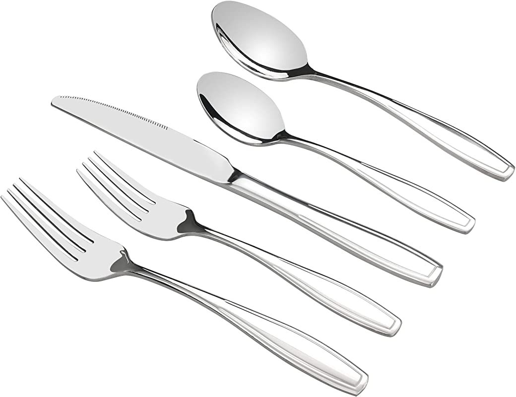 Pekky 40 Piece Stainless Steel Silverware Set Flatware Service For 8