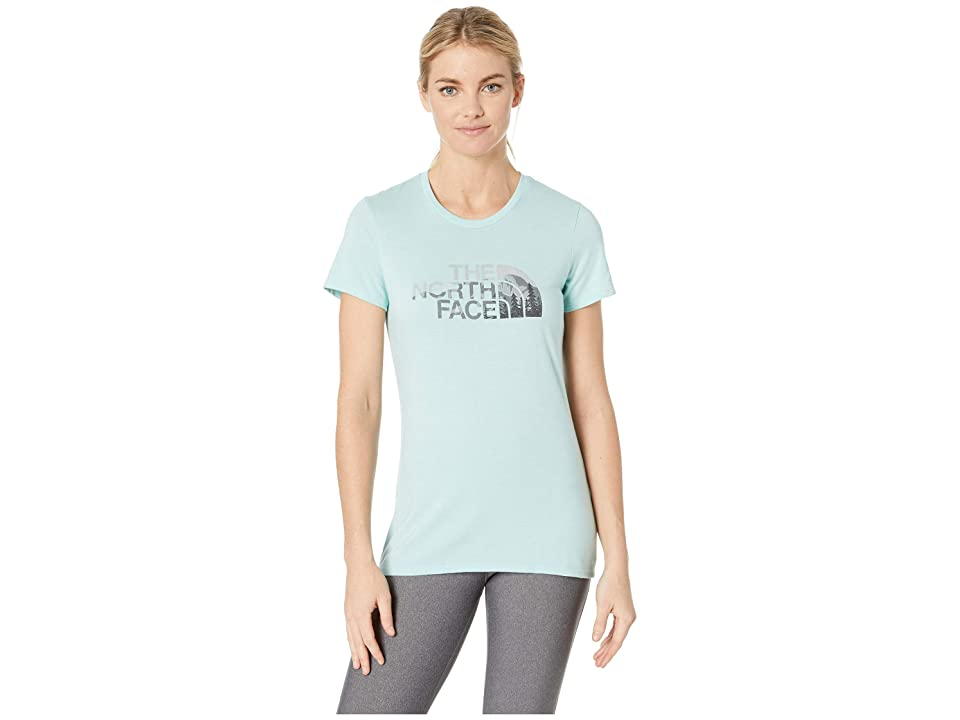 The North Face 1/2 Dome Tri-Blend Crew Tee (Canal Blue Heather/TNF Black Multi) Women