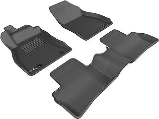 3D MAXpider Complete Set Custom Fit All-Weather Floor Mat for Select Nissan Juke Models - Kagu Rubber (Black)