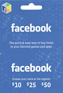 Facebook - $25 Gift Card for Facebook Games and Apps