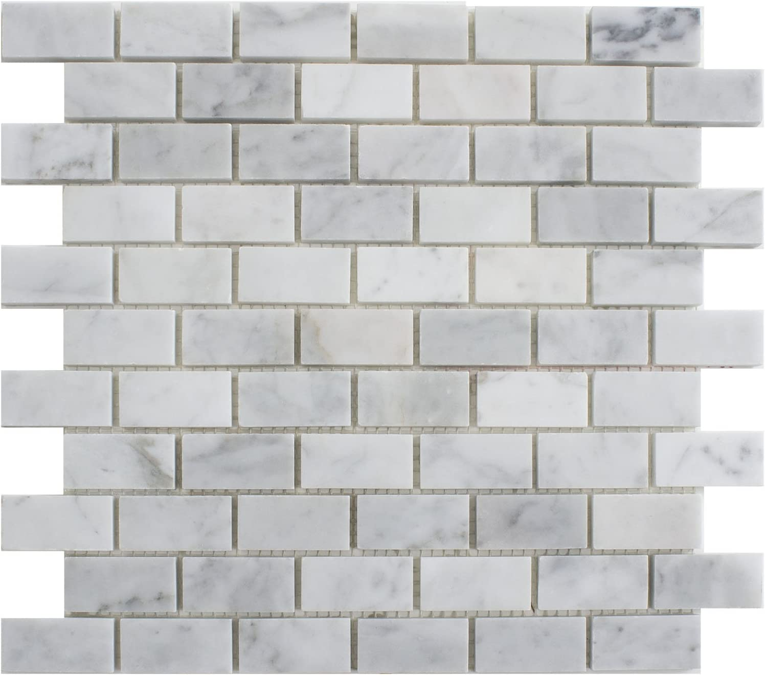 Max 88% OFF 5 Sheets Genuine Carrara White Chi Manufacturer direct delivery Tile Mosaic Marble CWMM0102