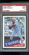 1985 Topps #536 Kirby Puckett Twins ROOKIE RC MINT PSA 9 Graded Baseball Card - Slabbed Baseball Cards